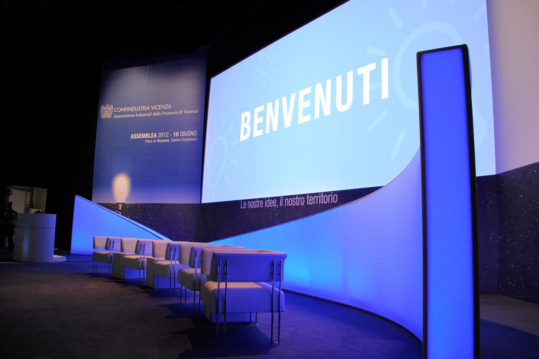 Illuminazione meeting aziendali e congressi | Eventi Confindustria Vicenza Assemblea 2013