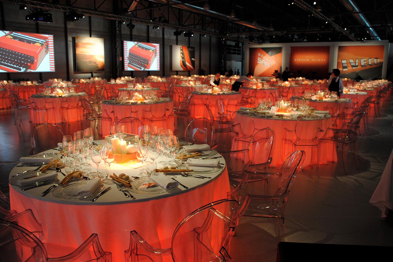 Illuminazione per cene, feste aziendali o private | Eventi Iveco New tralis Torino 2012