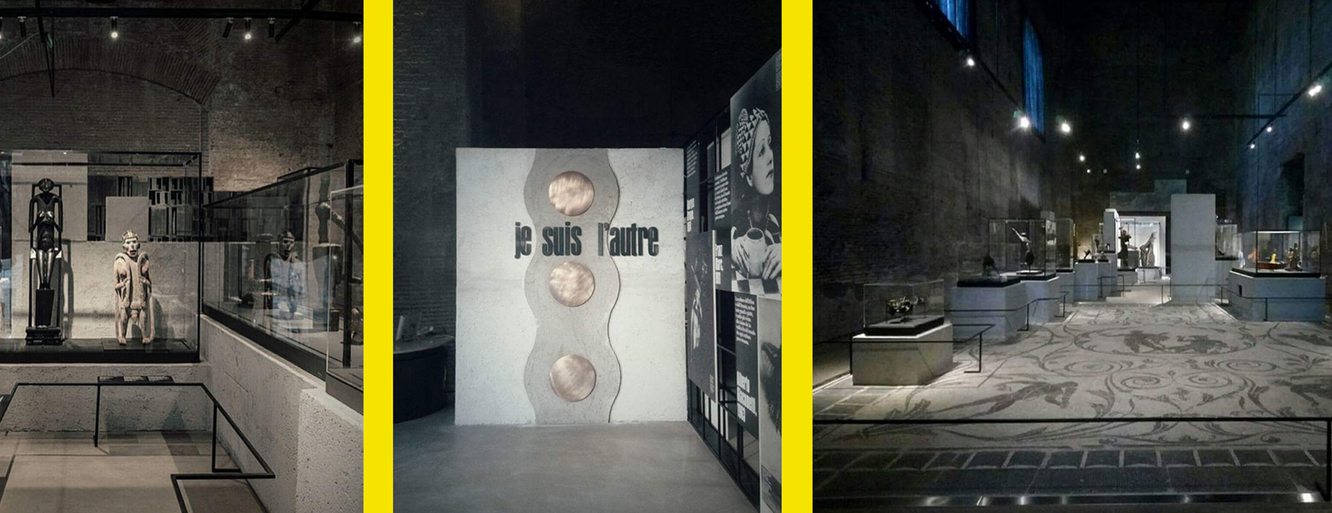 "LIGHTING PROJECT FOR THE EXHIBITION ""JE SUIS L'AUTRE"" – TERME DI DIOCLEZIANO, ROME"