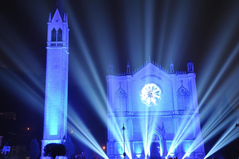 Illuminazione spettacoli son et lumière luoghi di culto | Ottobre Rosa Andos Montecchio Maggiore