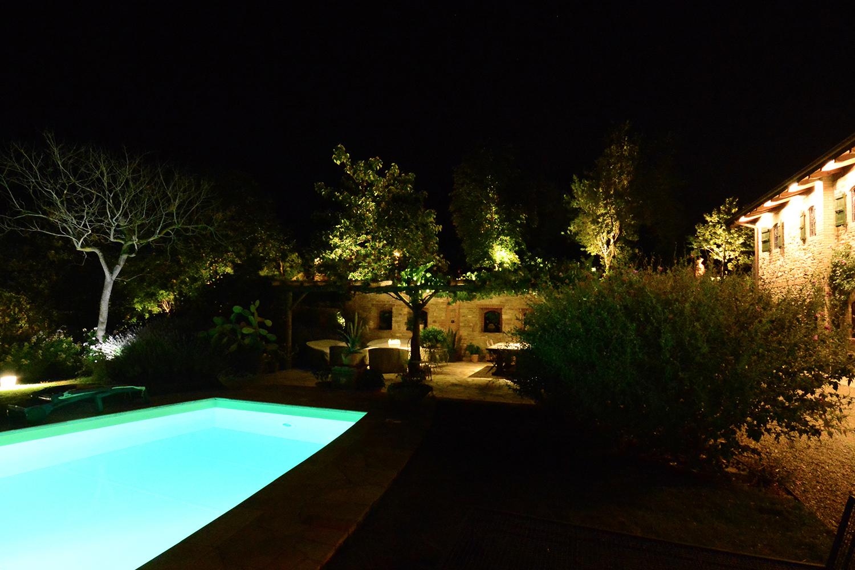 Illuminazione giardino privato parma