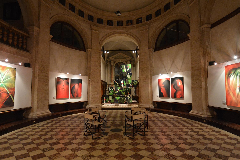 Illuminazione musei e gallerie d'arte | mostre giuliano francesconi filo rosso bassano del grappa