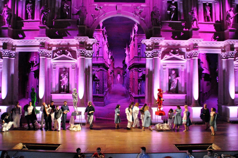 Illuminazione per spettacoli teatrali | don Pasquale teatro olimpico vicenza